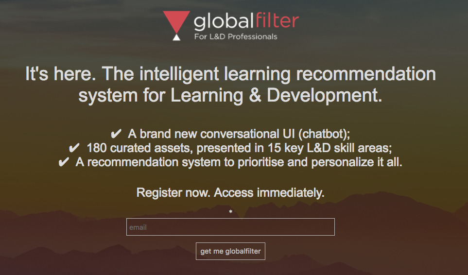 globalfilter AI for learning and development