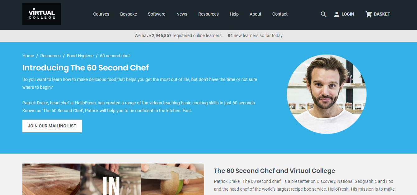 60 Second Chef Course Review - Online Training Videos by Virtual College