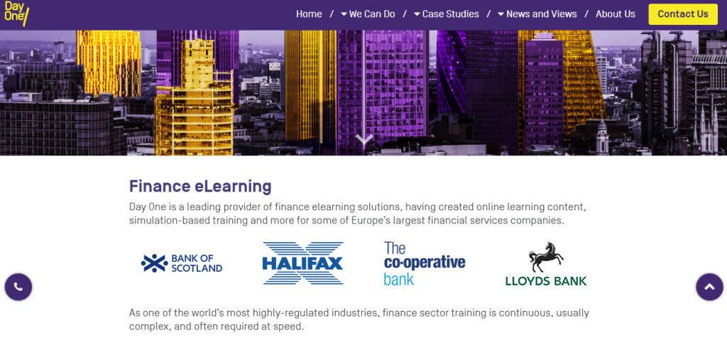 Finance elearning solutions from Day One Technologies