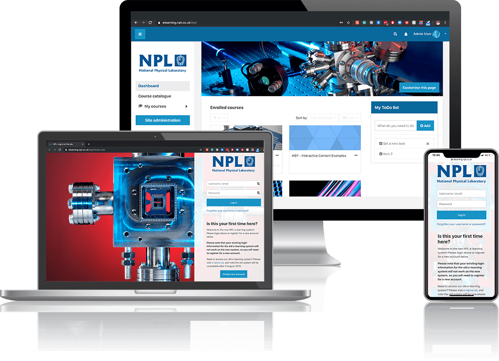 Moodle LMS for National Physical Laboratory