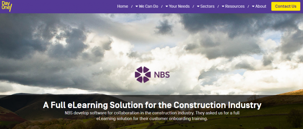Construction sector elearning from Day One Technologies