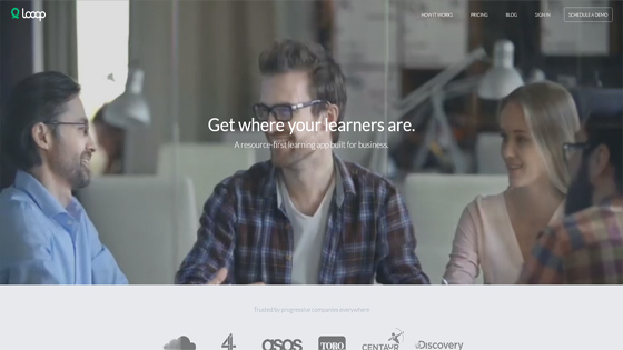 Looop online learning resource curation tool