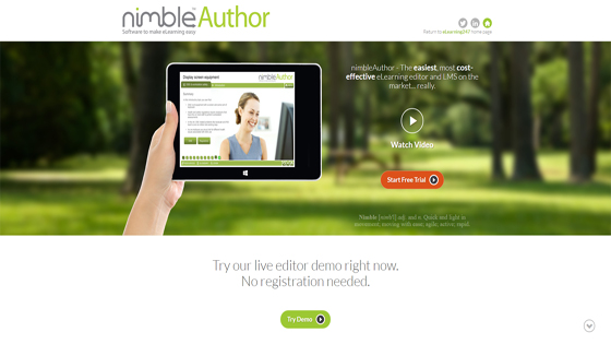 Nimble eLearning Authoring Tool