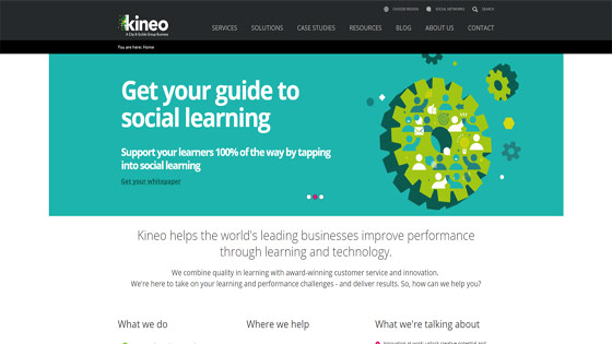 Kineo workplace learning solutions