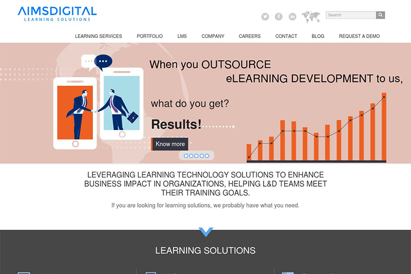 Aims Digital elearning outsourcing