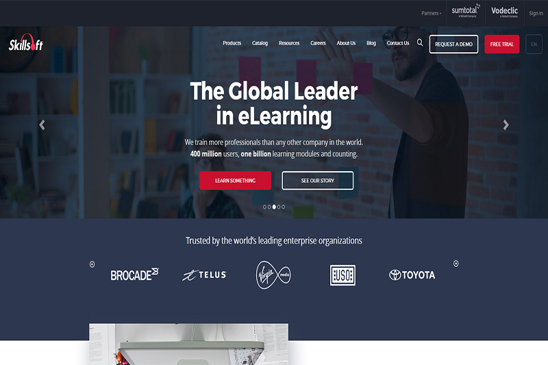 Skillsoft enterprise learning content and platforms