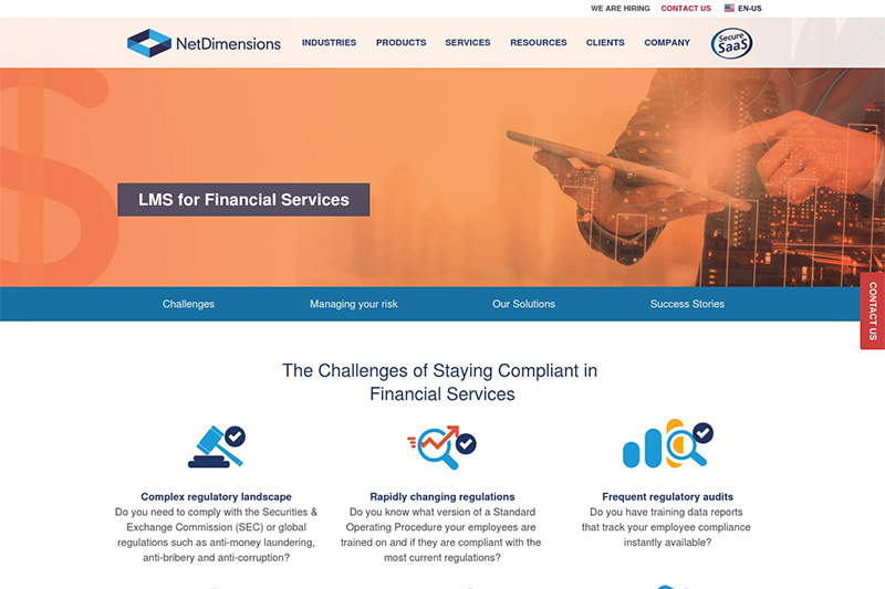 NetDimensions Financial Services LMS