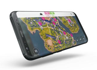Interactive map on a mobile phone