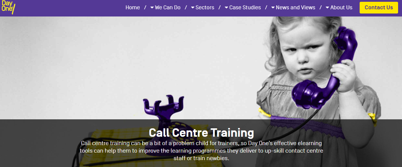 eLearning for Call Centres from Day One