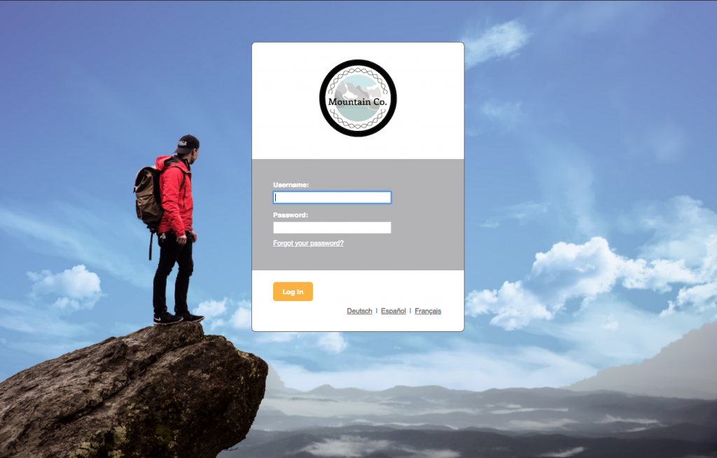 Brandable LMS login page