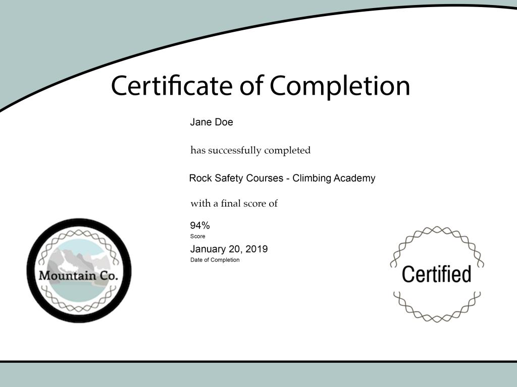 Custom elearning certificate