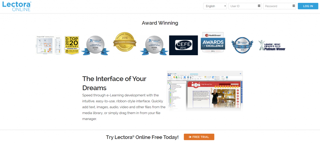 Lectora online authoring software