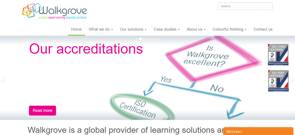 Learning solutions company, Walkgrove