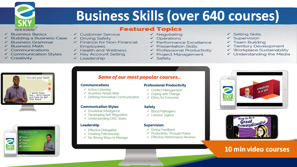 Video based business courses