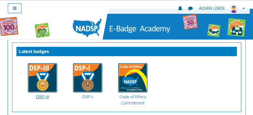 Badges from Web Courseworks