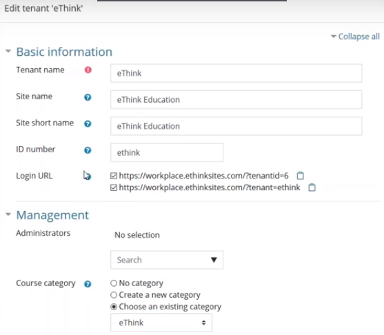 Multi-tenancy LMS with Moodle Workplace from eThink