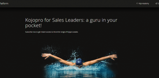 Kojopro sales leadership development platform