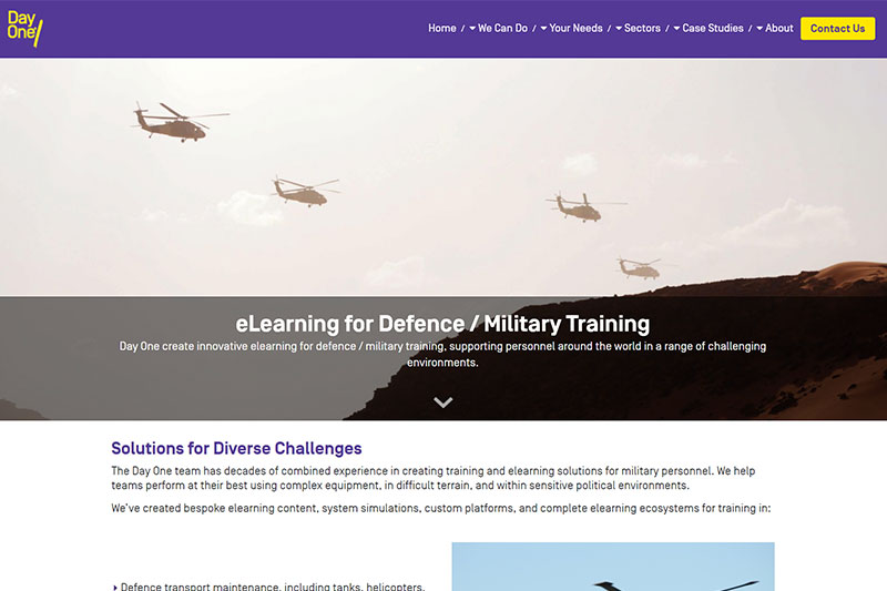 Day One defence elearning