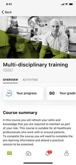 Multi-disciplinary training content
