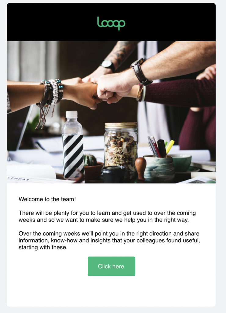 Learning campaign email