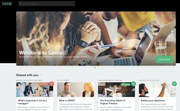 Looop LMS dashboard