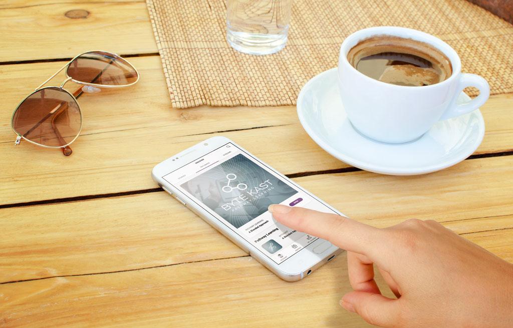 Mobile learning with ByteKast