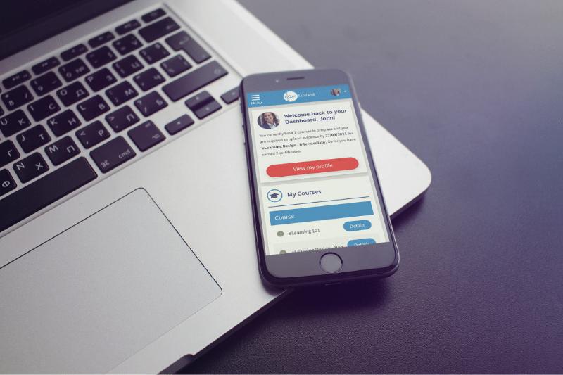 eNetLearn mobile dashboard