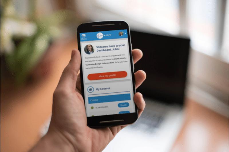 eLearnnet mobile UI