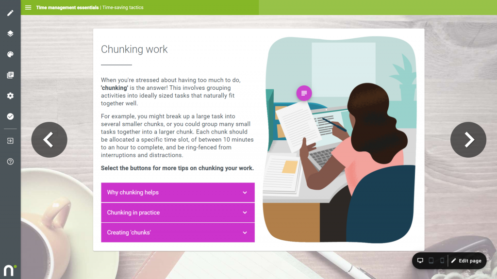eLearning authoring tool with great UX