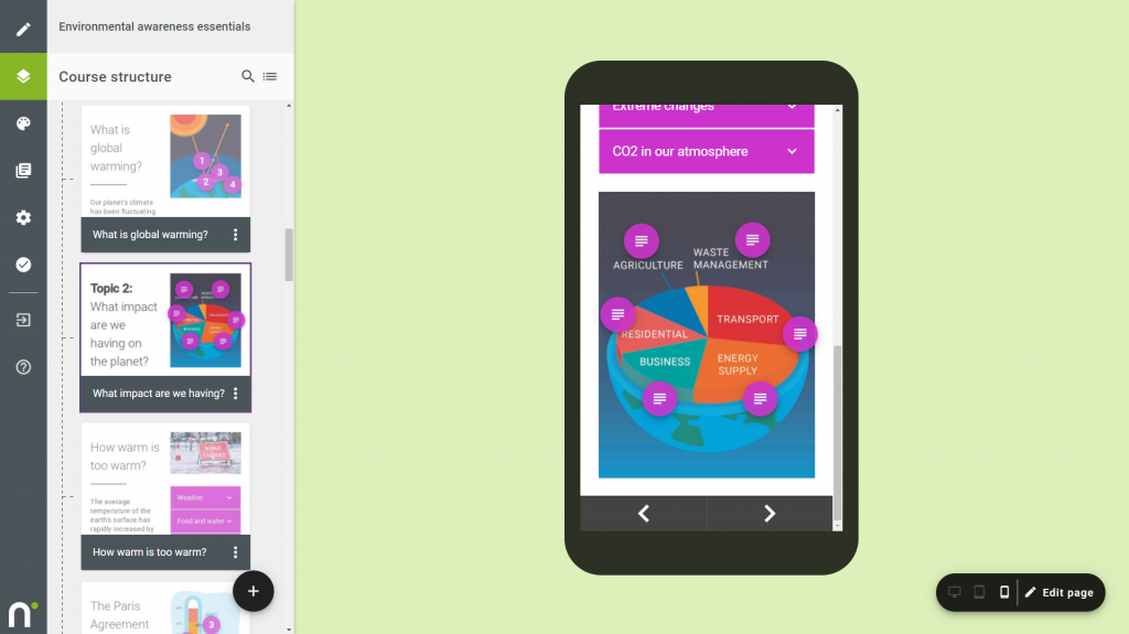 Mobile friendly elearning design