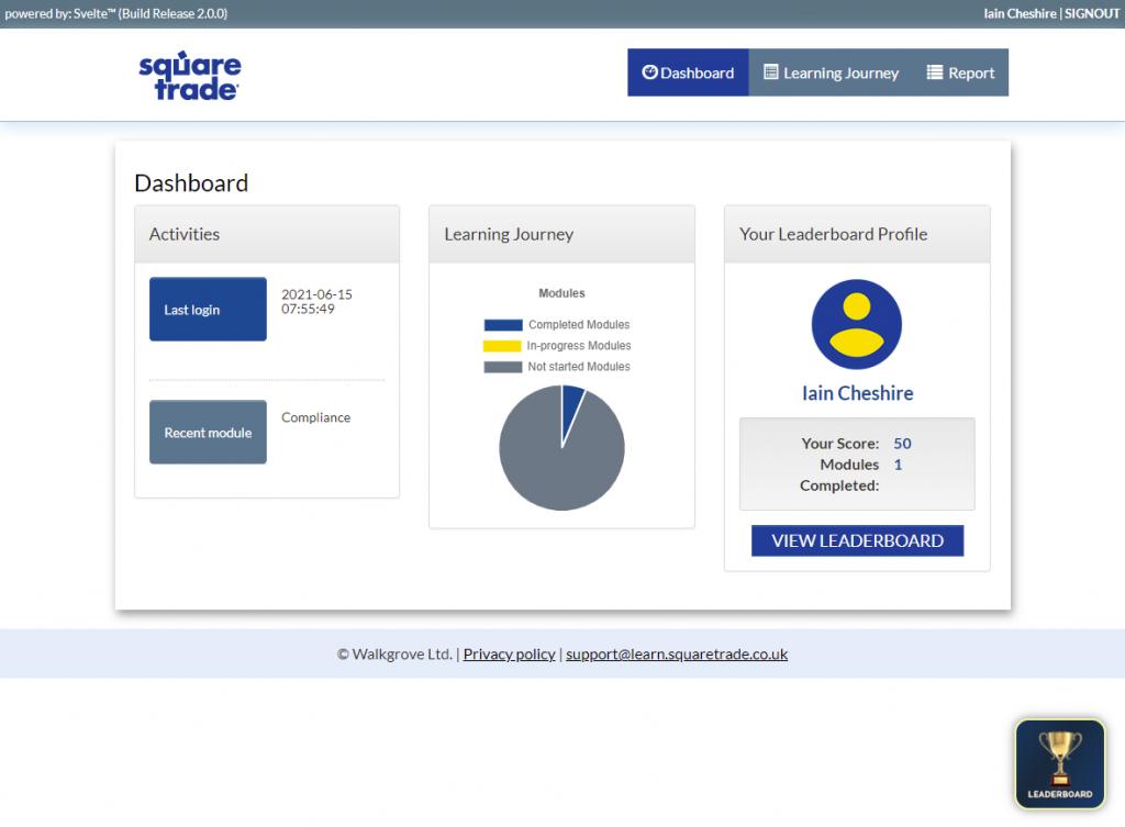 eLearning platform gamification example