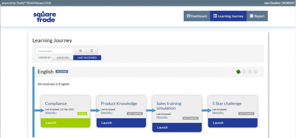 Good LMS UI and UX with Svelte